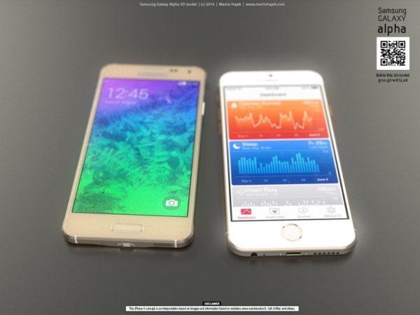 iPhone 6 y Galaxy Alpha (2)