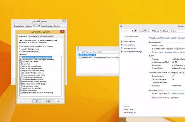 rendimiento de Windows 8