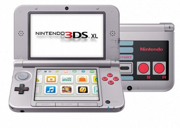 Nintendo 3DS XL estilo NES