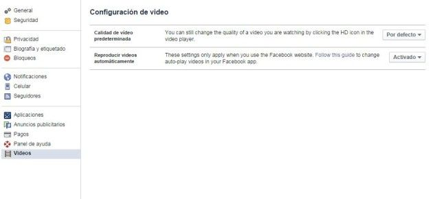 PC facebook autoplay