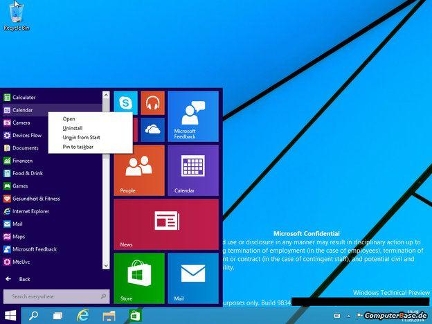 Así funciona el nuevo menú Inicio de Windows 9 31