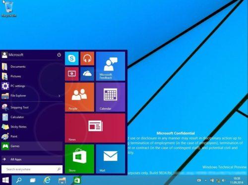 Windows 9 Technical Preview no llegará hasta octubre