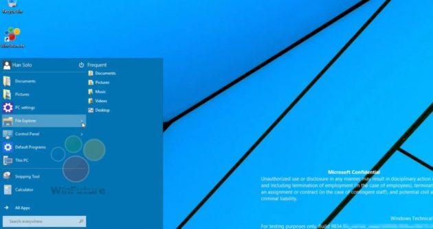 de inicio de Windows 9