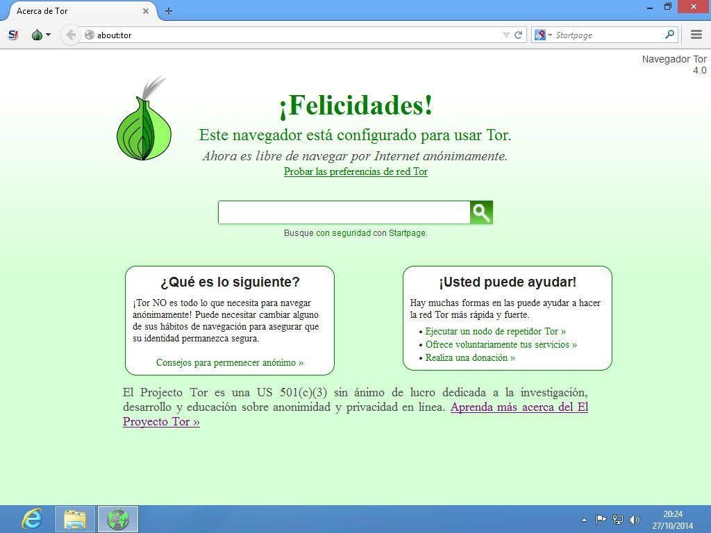 Tor Browser Bundle funcionando por primera vez