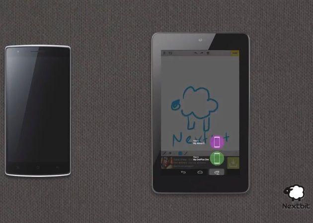 Nextbit sincronizando entre dispositivos Android