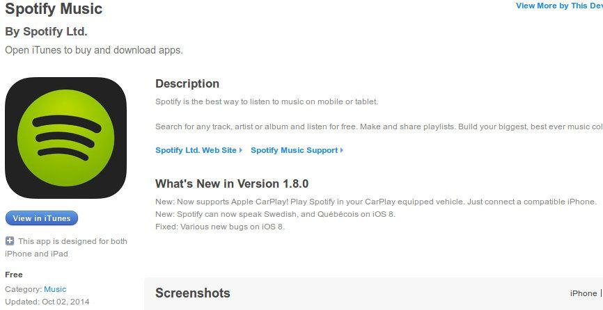 Spotify actualizado el mismo dia que el anuncio de Pioneer