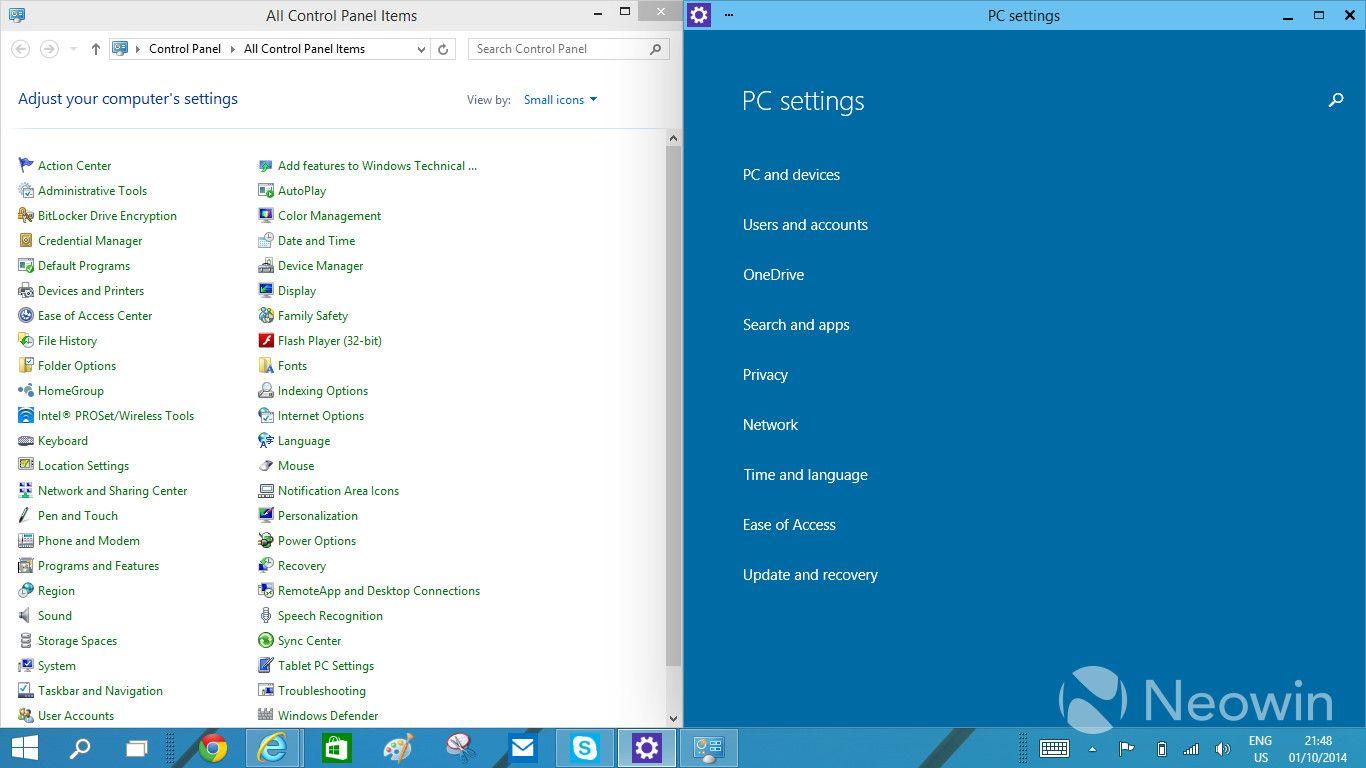 Nuevo panel de control en la siguiente build de Windows 10 29