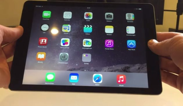 el iPad Air 2 también se dobla
