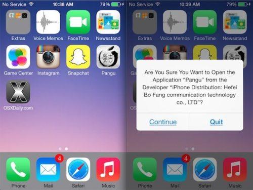 Pangu lanza jailbreak para iOS 8 e iOS 8.1