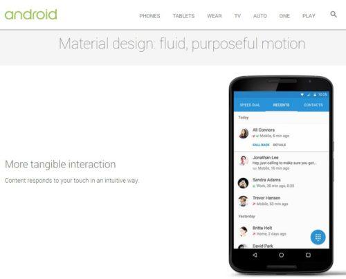 Primera lista oficial de terminales que recibirán Android 5.0 Lollipop