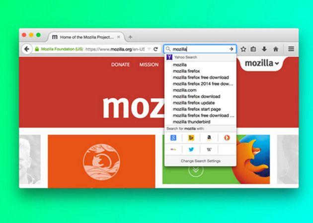 Así será la nueva interfaz de búsqueda de Firefox