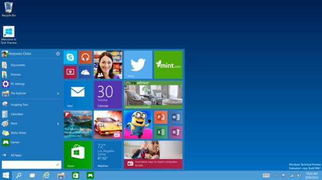 Windows 10 con la