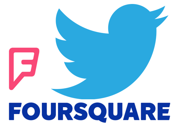 Foursquare y Twitter