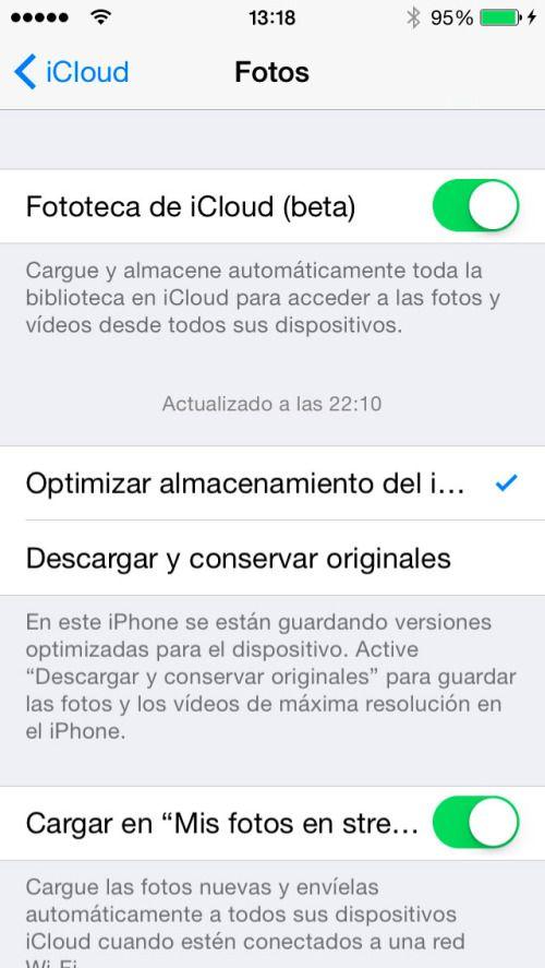 Cómo usar la Fototeca de iCloud para liberar espacio en tu iPhone o iPad