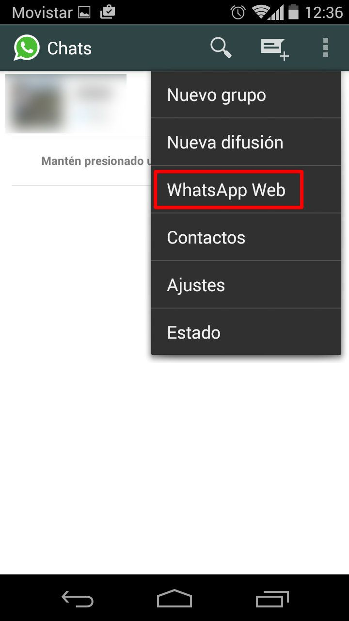 Activar WhatsApp Web