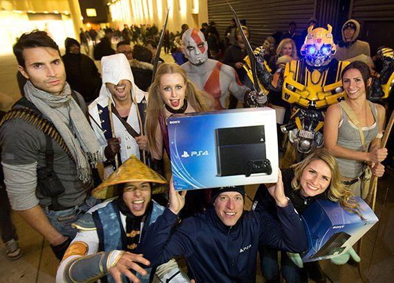 Furor por PlayStation 4 en su lanzamiento