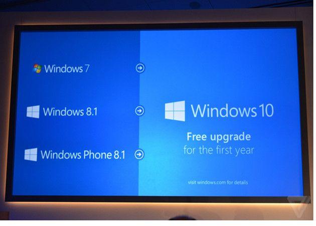 Windows 10 gratis para clientes de Windows 7 y Windows 8.1