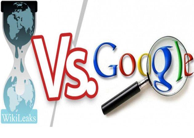 WikiLeaks critica a Google