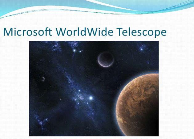 Microsoft libera WorldWide Telescope en un proyecto Open Source