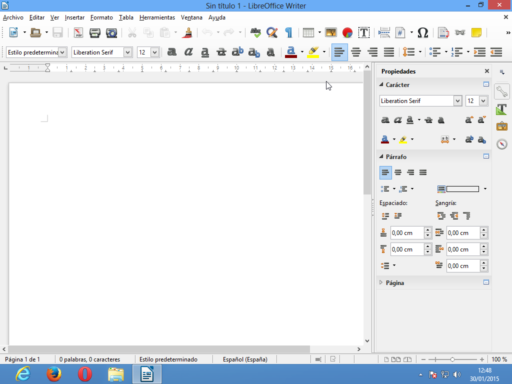 Writer en LibreOffice 4.4