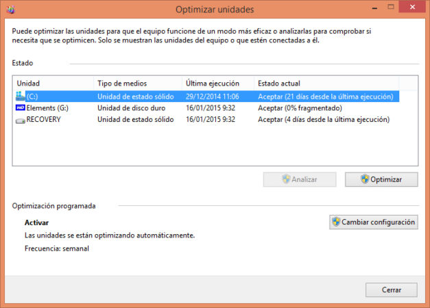 OPTIMIZAR SSD WINDOWS