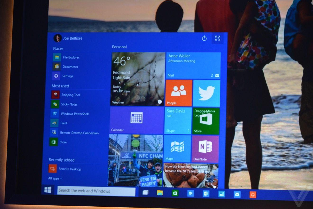 Nueva interfaz para Windows 10, menú de inicio incluido