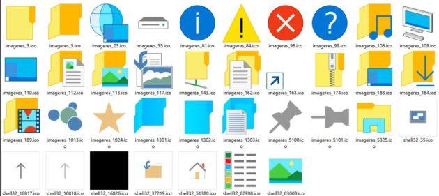 nuevos iconos de Windows 10