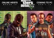 GTA V para PC se retrasa, toca esperar hasta abril