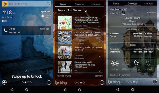 Picturesque Lock Screen, pantalla de bloque de Microsoft para Android