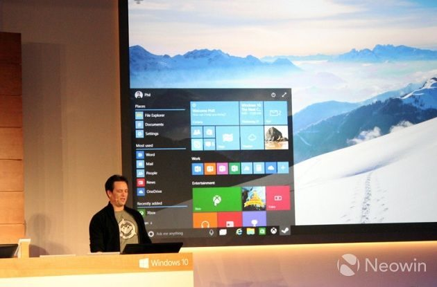 Windows 10 ofrecerá transparencias