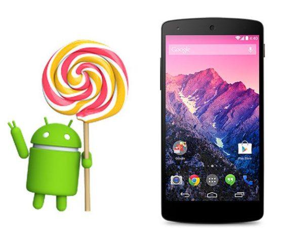 Android 5.1 para el Nexus 5