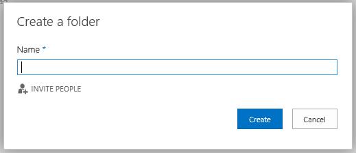 Compartir una carpeta cuando se crea en OneDrive