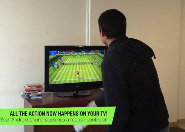 Juego de tenis usa Chromecast para convertir un smartphone en una raqueta