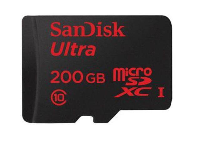 SanDisk presenta microSD de 200 GB
