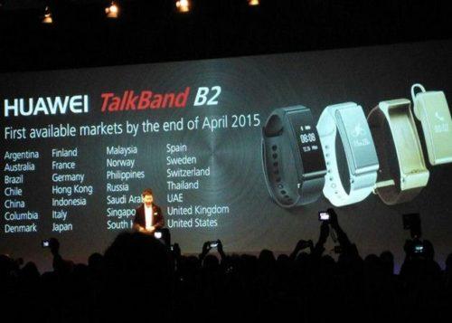 Huawei presenta TalkBand B2