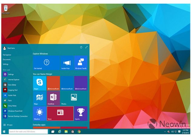 Imagen ISO Windows 10 Build 10041(Actualizada)