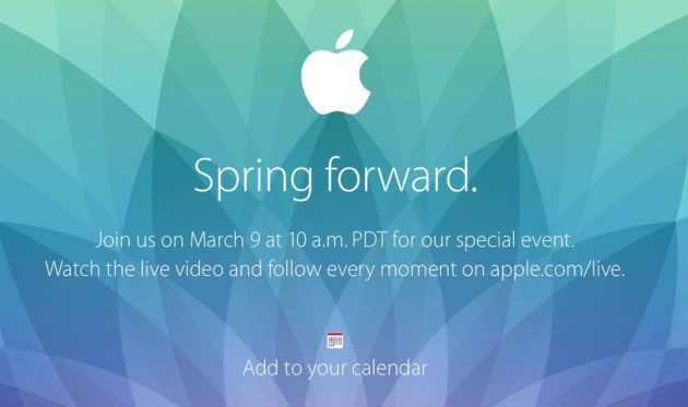 Apple Watch Keynote 9 de marzo, en directo