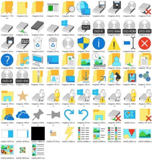 iconos actualizados en Windows 10 build 10036