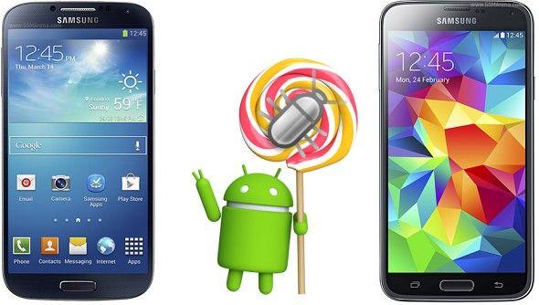 Android Lollipop para los Galaxy S5 y S4