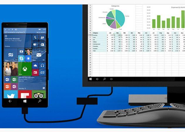 Continuum: convierte tu smartphone Windows 10 en un PC