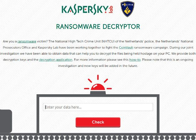Kaspersky y la policía neerlandesa se alían para lanzar una herramienta contra el ransomware