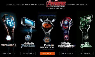 Gillette imagina cuchillas de afeitar de Los Vengadores 29