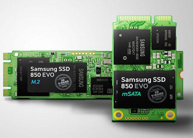 Samsung amplía serie SSD 850 EVO con formatos M.2 y mSATA