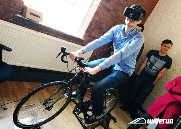 Widerun, invento para ofrecer una sensacion realista de estar sobre una bicicleta en la realidad virtual