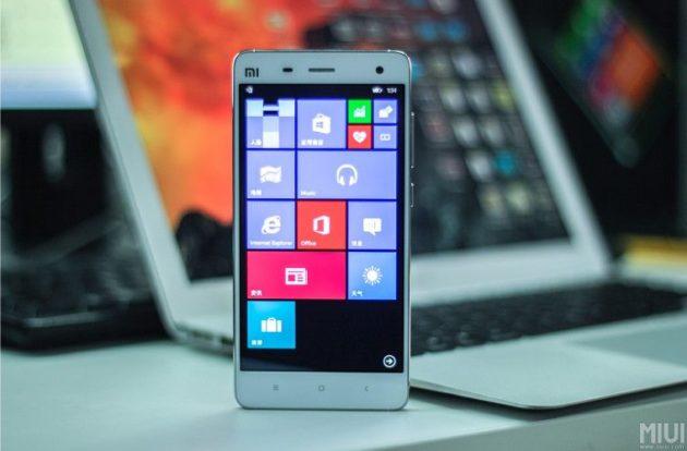 Windows 10 corriendo en un Xiaomi Mi4
