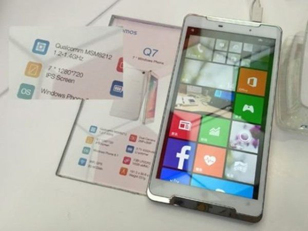 phablet con Windows Phone 8.1