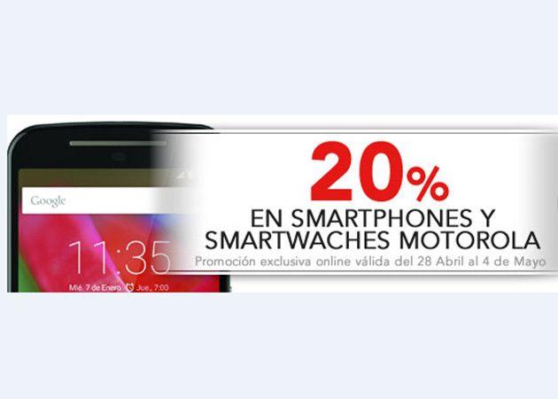 Worten descuenta el 20% en smartphones y smartwatch Motorola