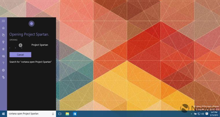 En la build 10120 de Windows 10 Cortana puede abrir aplicaciones