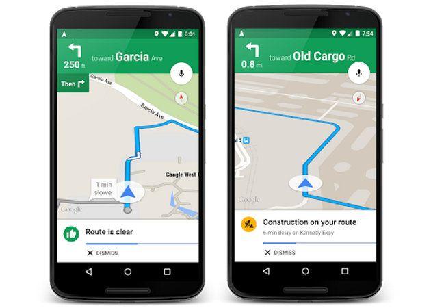 Google Maps incluye mejores alertas de tráfico y sugerencias de rutas alternativas