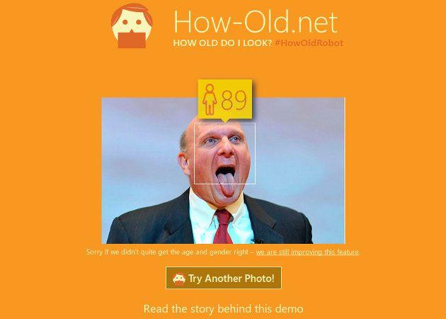 How-Old.net, un sitio web de Microsoft que intenta adivinar la edad a traves de una foto